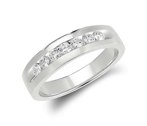 channel set ring in 14k white gold 1 2 ct tw
