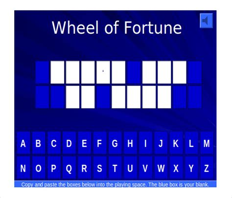 Blank Jeopardy Template Jeopardy Templates For Powerpoint Wheel Of Fortune Power Point