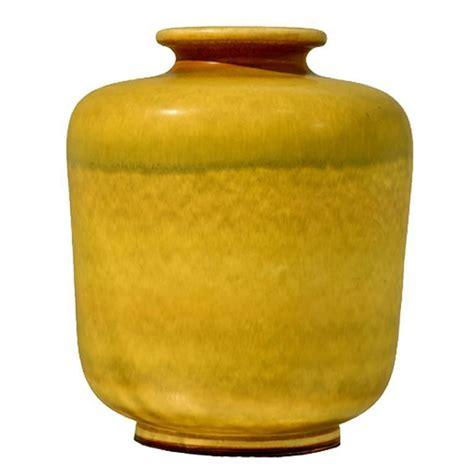 Large Yellow Vase Large Yellow Stoneware Vase By Berndt Friberg For