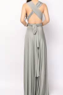 Grey long infinity dress convertible dress bridesmaid dress