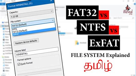 how to format exfat to fat32 or ntfs in windows 7 8 10 fat32 vs ntfs vs exfat windows file system explained in