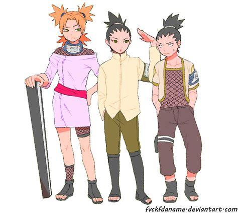 boruto genin shikamaru temari and shikadai by fvckfdaname on deviantart