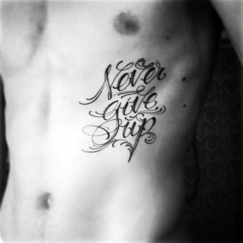 never give up tattoo design 60 never give up tattoos for phrase design ideas