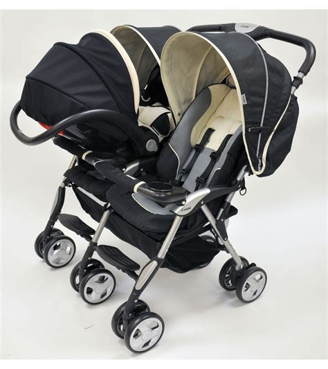 strollers with two car seats side by side combi sport ex stroller flagstone