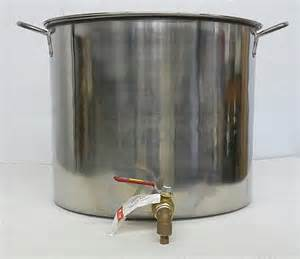 Stainless Steel Stock Pot With Faucet Backyard Maple Sugaring Equipment