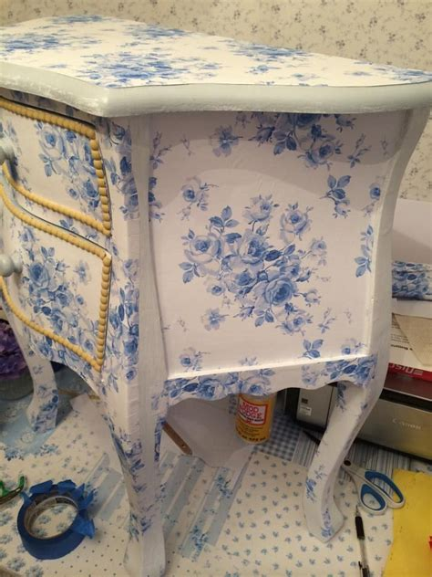 decoupage furniture with wrapping paper 17 best images about painted furniture i on