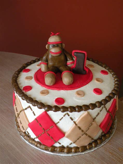 a sock monkey cake sock monkey 1st birthday cake cakecentral