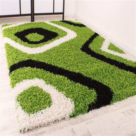 teppich 24 de shaggy teppich hochflor langflor gemustert in gr 252 n schwarz