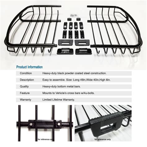 Jeep Roof Top Cargo Carrier Jeep 05 14 Roof Top Rack Car Cargo Carrier Traveling