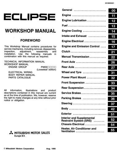 service manuals schematics 2012 mitsubishi eclipse security system руководство по ремонту mitsubishi eclipse workshop manual 1995