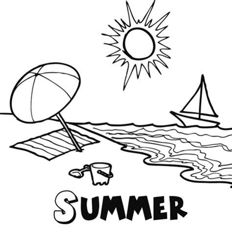 dibujos infantiles para colorear del verano imprimir dibujo de la estaci 243 n de verano para imprimir y