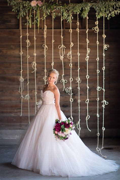 Knot Wedding Backdrop by Tying The Knot Wedding Inspiration Ruffled