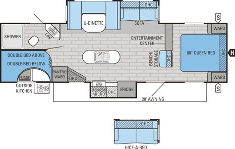 bunkhouse travel trailer floor plans jayco jay flight 29bhds bunkhouse travel trailer tcrv