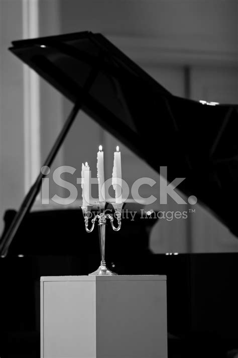 candelabra piano candelabra on the piano background fragment stock photos