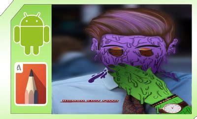tutorial zombie grime tutorial grime art keren di sketchbook android
