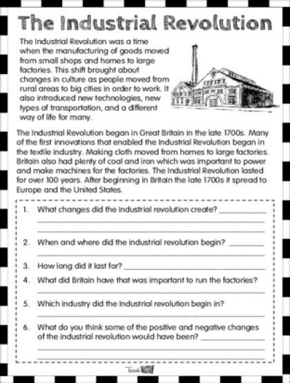 Industrial Revolution Worksheets by Industrial Revolution Worksheets Wiildcreative