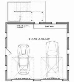 Double Car Garage Plans by Economical Two Car Garage With Storage 12435ne Cad