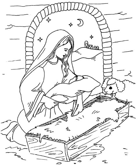 baby jesus christmas coloring pages coloring home