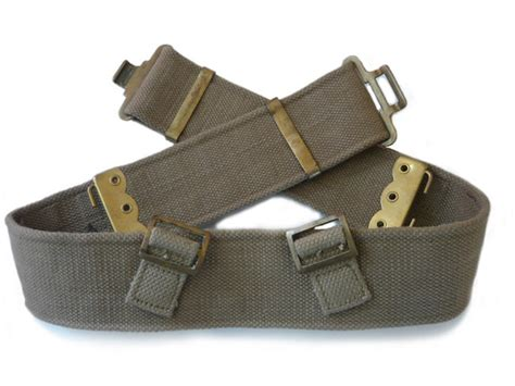 pattern web belts uniform kit issued to the canadian army during ww2