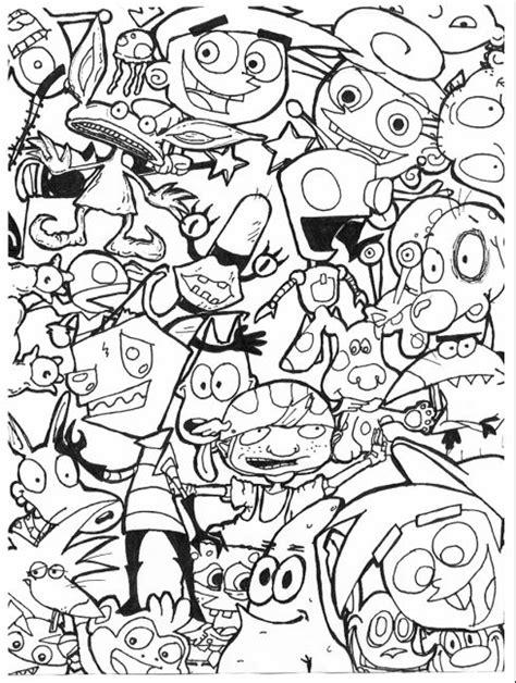 90s cartoons coloring pages az coloring pages 90s nickelodeon on pinterest nickelodeon kids shows