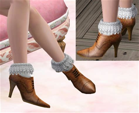 Rugs And Curtains Empire Sims 3 Lace Socks By Mitarasi Sims