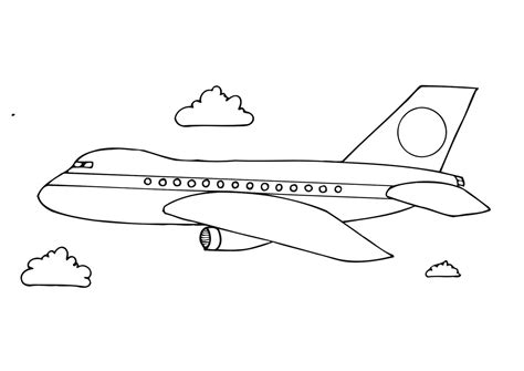 coloring page airplane outline coloring page aeroplane img 12281