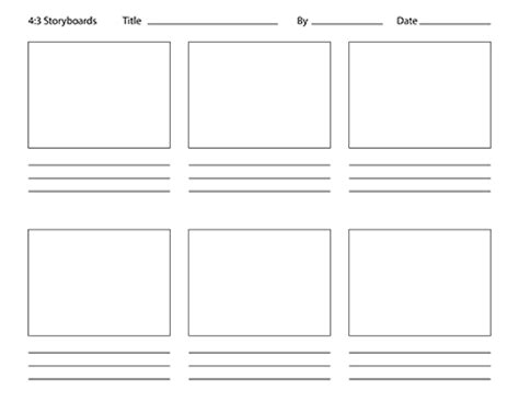 free storyboard templates for photoshop photoshop storyboard templates aspect ratios 4 3