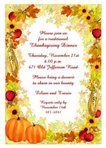 celebrate with unique thanksgiving invitations for dinner