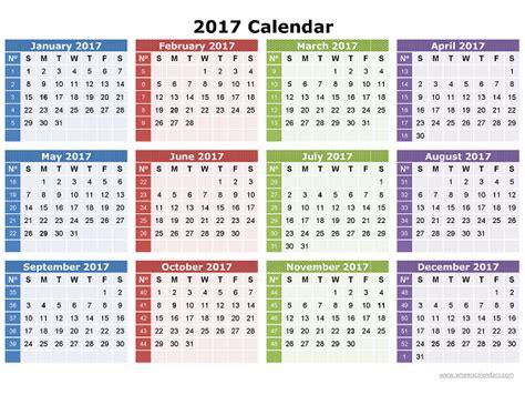 2017 Annual Calendar With Holidays 2017 Calendar Printable Templates Calendar 2017 2018