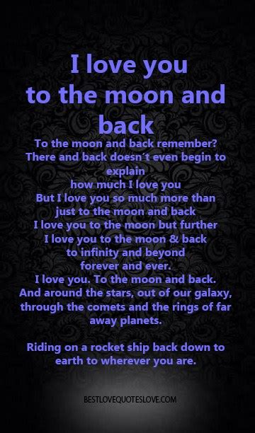 I Love You To The Moon And Back Quote by Quotes I Love You To The Galxay Quotesgram