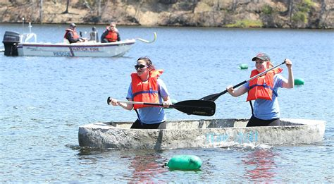 canoes and creativity natick civil engineering students race in concrete canoes