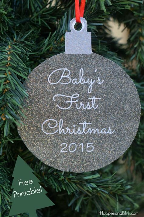 baby s first christmas 2015 printable ornament