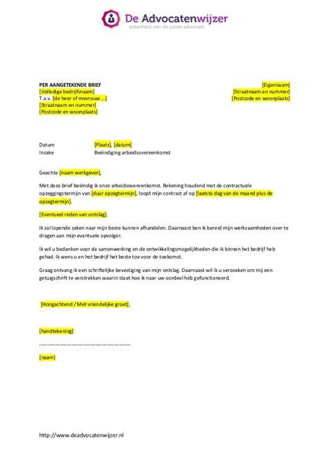 opstellen brief beeindigen contract ontslagbrief de advocatenwijzer
