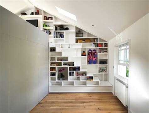 loft shelving beautiful loft design a solution to space shortage