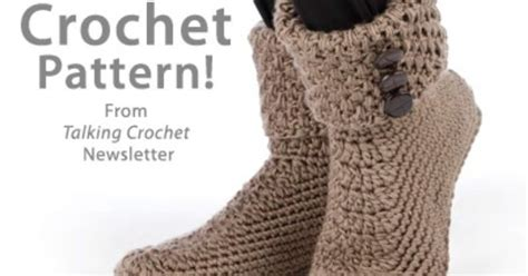 free button boats pattern button cuff boots download from talking crochet newsletter