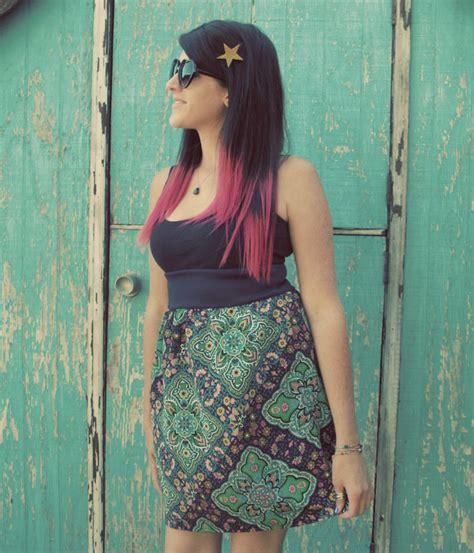 diy simple high waisted skirt sewing tutorial