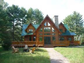 lakefront log home for sale waupaca wi chain o lakes log