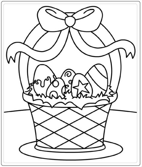 Free Easter Printable Coloring Pages For Kids Easter Easter Basket Printable Coloring Pages