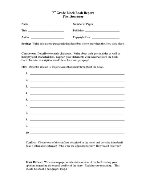 book reports for 7th grade best photos of book report outline template biography