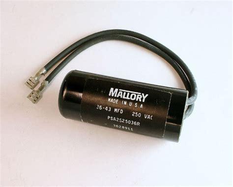 applications for capacitor start motors psa2s25036r mallory capacitor 36uf 250v application motor start 2020003046