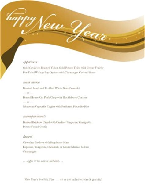 new years menu template menu templates and designs musthavemenus
