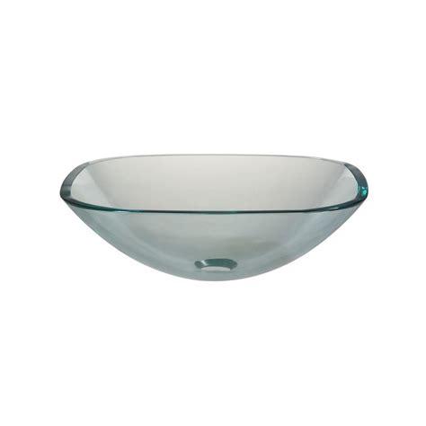 Clear Glass Vessel Sink by Hembry Creek Vessel Sink In Clear Glass Sf 01 The Home Depot
