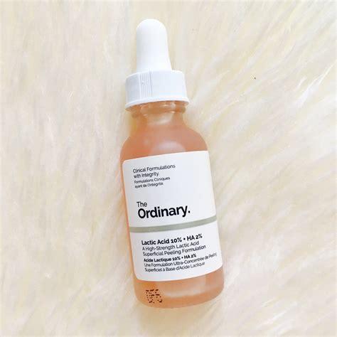 Ordinary Lactic Acid 10 Ha 2 worth the hype the ordinary skincare hayley