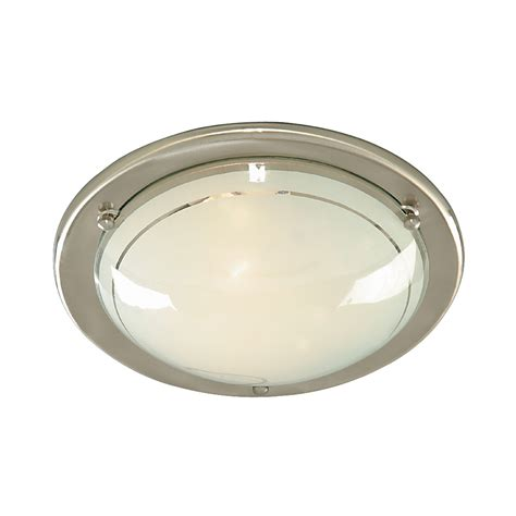 Light Fitting Ceiling Searchlight 702ss Jupiter Flush 1 Light Ceiling Fitting