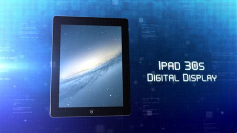 ipad 30s digital display final cut pro x template