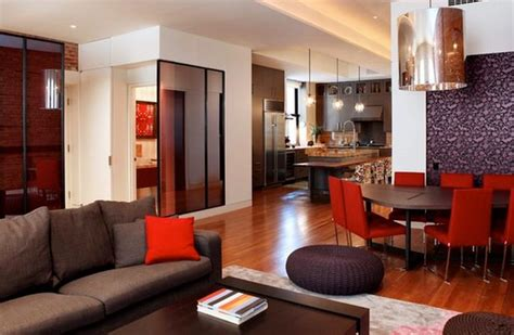 salon salle a manger moderne deco salon moderne marron deco maison moderne