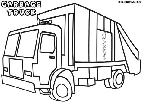 coloring page of trash truck garbage truck coloring pages coloring pages to download