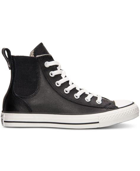 chuck leather sneakers lyst converse s chuck chelsee leather