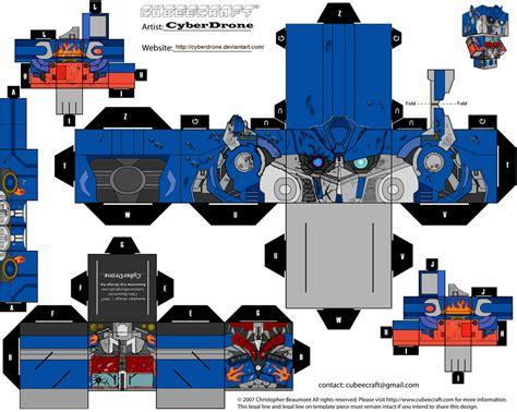 Papercraft Transformers Optimus Prime - meg post un monton de cubeecrafts actualizado taringa