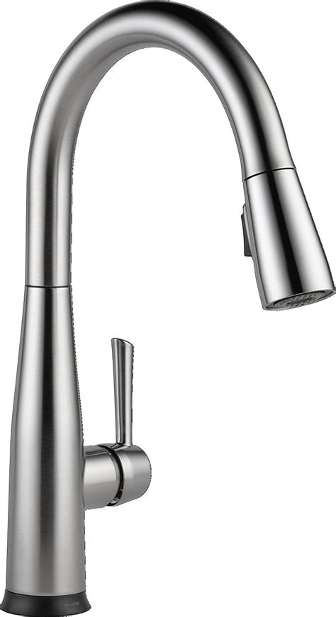 one kitchen faucets moen one touch pull out kitchen faucet